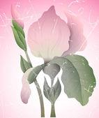 Illustrazione di fiore vettoriale vintage — Vettoriale Stock