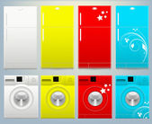 Refrigerator and Washing Machine Vector Illustartion — Stock Vector