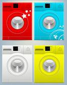 Washing Machine Vector Illustration — Stock Vector