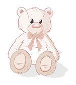 Cute Teddy Bear Vector — Stock Vector