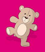 Teddy Bear Vector Illustration — Stock Vector