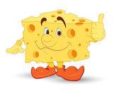 Cheese Vector Character — Stock Vector