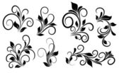 Flourish Swirls Vector Elements — Vector de stock