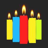 Brinnande ljus vektor — Stockvektor
