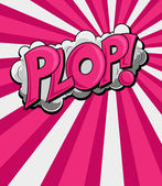 Plop - comica espressione vettoriale testo — Vettoriale Stock