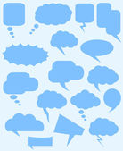 Speech Bubbles Vectors — Stockvektor