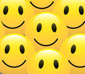 Smiley Hintergrund Vektor — Stockvektor