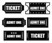 Biljetter vektorer — Stockvektor