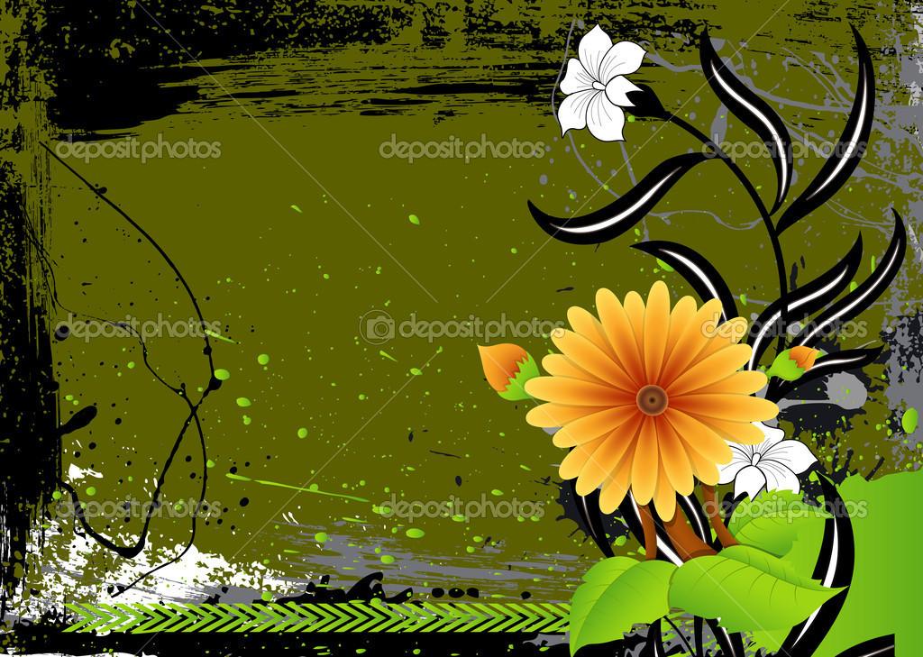 艺术的花卉矢量图