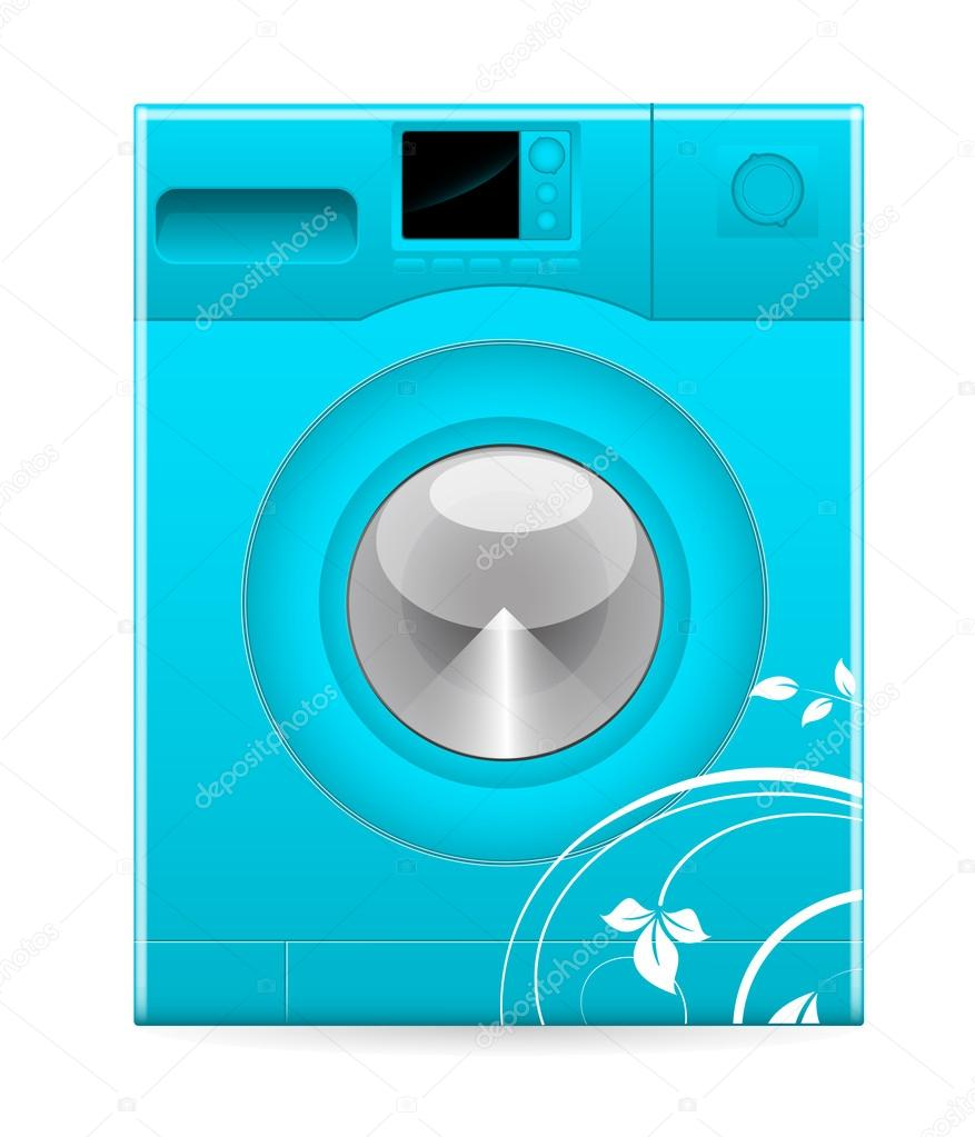 machine laver moderne design r tro image vectorielle baavli 14175997. Black Bedroom Furniture Sets. Home Design Ideas