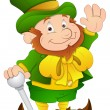 St. Patrick's Day - Cartoon Character - Vector Illustration — Imagen vectorial