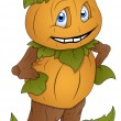Pumpkin Man - Cartoon Character - Vector Illustration — Vector de stock