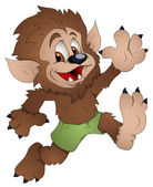 Cute Werewolf - Cartoon Character - Vector Illustration — Stock Vector