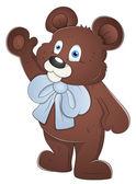 Teddy Bear - Cartoon Character - Vector Illustration — Stock Vector
