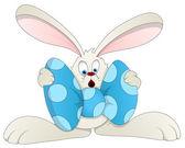 Illustrazione vettoriale di pasqua coniglietto - cartone animato — Vettoriale Stock