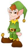 Christmas Elves - Cartoon Character - Vector Illustration — Stock Vector