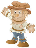Cute Scarecrow - Cartoon Character - Vector Illustration — Stock Vector