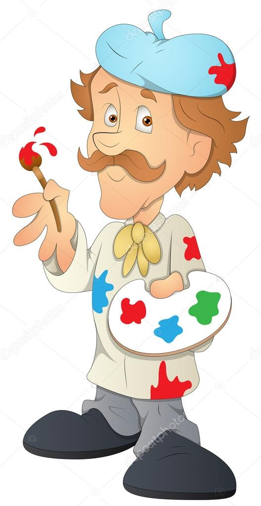 Illustration vectorielle artiste personnage de dessin for Artiste dessin