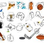 Cartoon Hand Gestures - Vector Illustration — Stock Vector #15294289