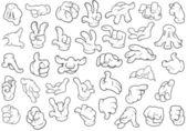 Hand Gestures - Vector Illustration — Stock Vector