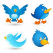 Royalty-Free Stock Vector Image: Twitter Birds