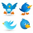 Twitter Birds — Stock Vector #15323415