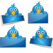 Royalty-Free Stock Vector Image: Cartoon Birds Icons