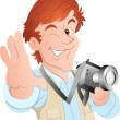 Постер, плакат: Male Cartoon Photographer
