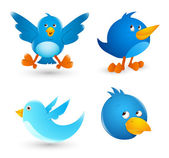 Twitter vögel — Stockvektor