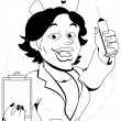 Nurse - Vector Character Illustration — Stock vektor