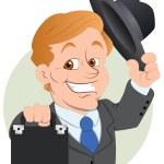 Salesman Vector Illustration — Stock Vector