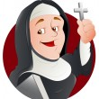 Nun Vector Illustration - Stock Vector