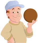 Referee - Vector Character Illustration — Stock Vector