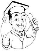 Graduatiedag - vector teken illustratie — Stockvector