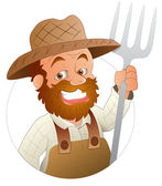 Farmer - Vector Character Illustration — Stock Vector