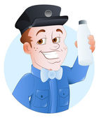 Milkman - Vector Character Illustration — Stock Vector