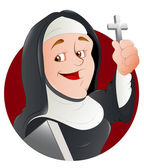 Nun Vector Illustration — Stock Vector