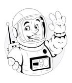 Cartoon Astronaut Illustration — Vector de stock