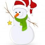 Snowman Vector Illustration — Stock Vector #16945921