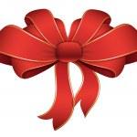 Red Ribbon - Christmas Vector Illustration — Stock Vector