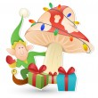 Cartoon Cute Elf - Christmas Vector Illustration — Stock Vector #16946417