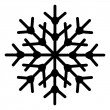 Stock Vector: Snowflake Shape