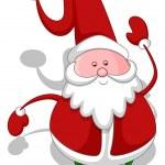 Cartoon Santa - Christmas Vector Illustration — Stock Vector #16947795