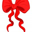 Cartoon Bow - Christmas Vector Illustration — Stock Vector #16948073