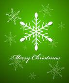 Snowflake Christmas Vector Background — Stock Vector