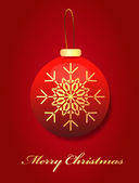 Christmas Vector Illustration Background — Stock Vector