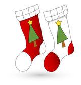 Cartoon Stockings - Christmas Vector Illustration — Stock Vector