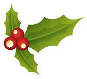 神聖な葉 - クリスマス ベクトル イラスト — ストックベクタ