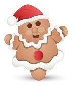 Gingerbread Man - Christmas Vector Illustration — Stock Vector