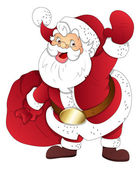Santa claus - kerst vectorillustratie — Stockvector